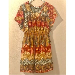 Feather Patterned Dress